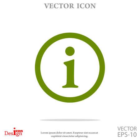 info vector icon Illustration