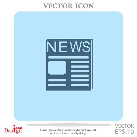 newsprint: news vector icon Illustration