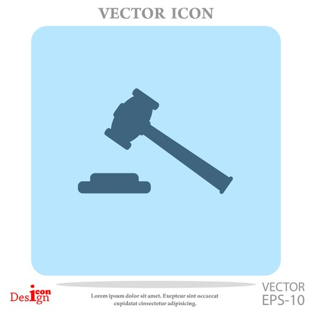 juridical: hammer judge vector icon