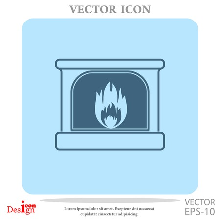 home equipment: fireplace vector icon
