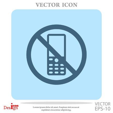 turn on: turn off phone vector icon Illustration