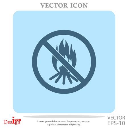 firealarm: no bonfire vector icon