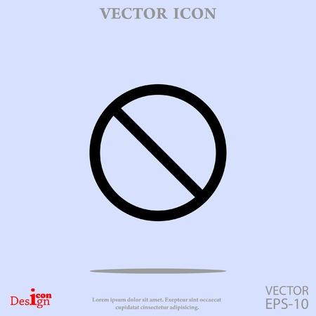 prohibit vector icon Illustration