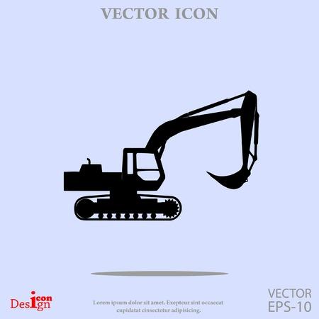 Bagger Vektor-Symbol Standard-Bild - 60764638