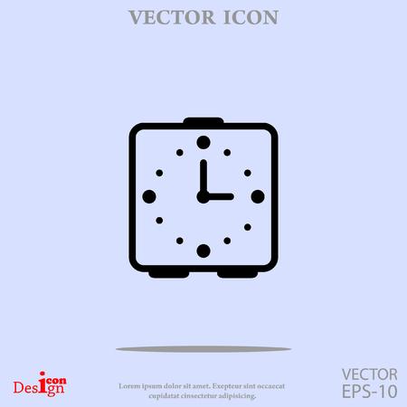 analog dial: alarm clock vector icon Illustration