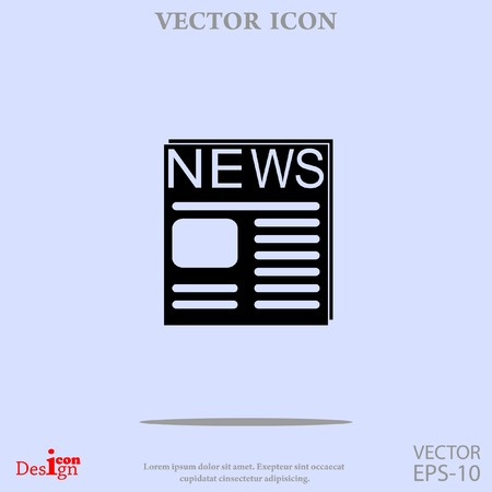 reportage: news vector icon Illustration