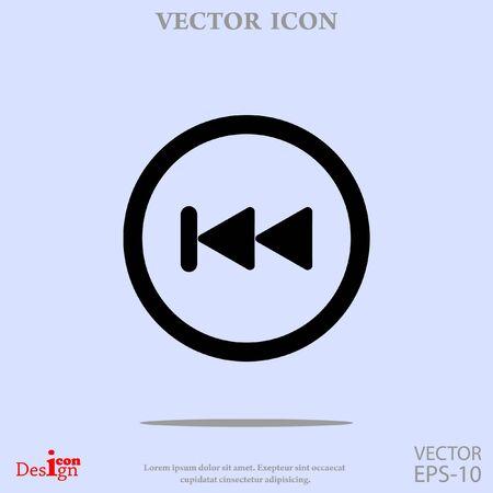 volume control: backwards button vector icon
