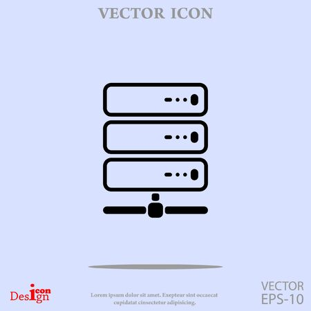 webhosting: computer server vector icon