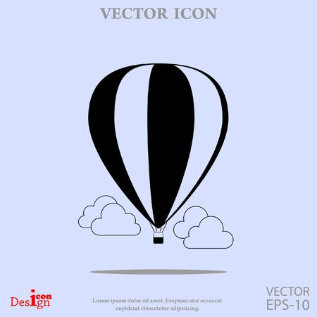 airship: air balloon vector icon