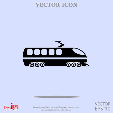 high speed train: modern train vector icon Illustration