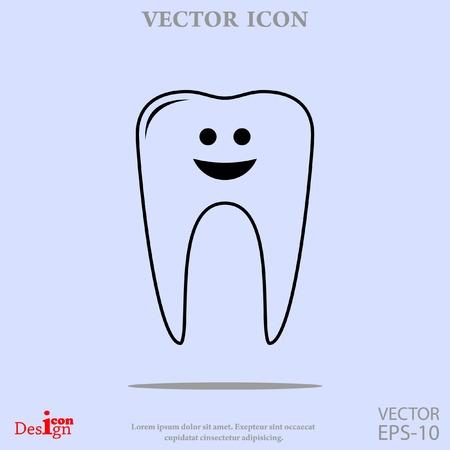 teeth vector icon