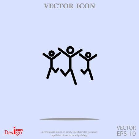 school work: success team vector icon Illustration