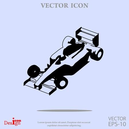 speedway: sport car vector icon