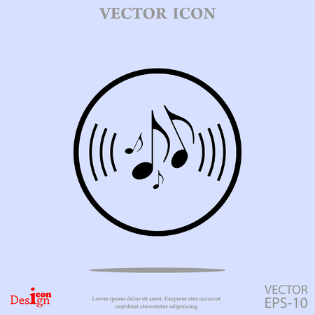 crotchets: music note vector icon