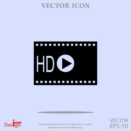 hd: hd video vector icon Illustration