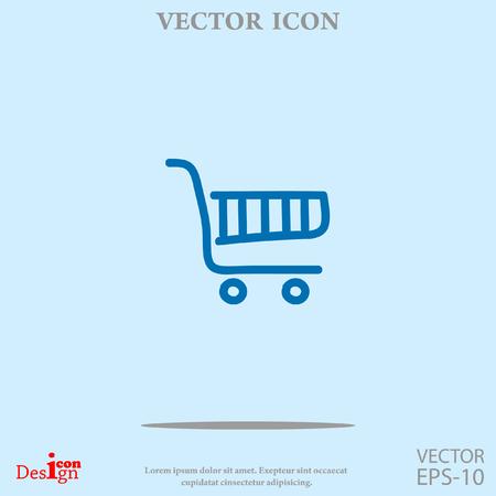 e pay: shopping chart vector icon