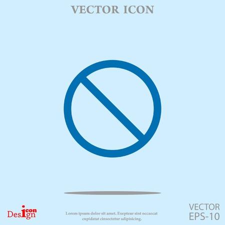 disallowed: prohibit vector icon Illustration