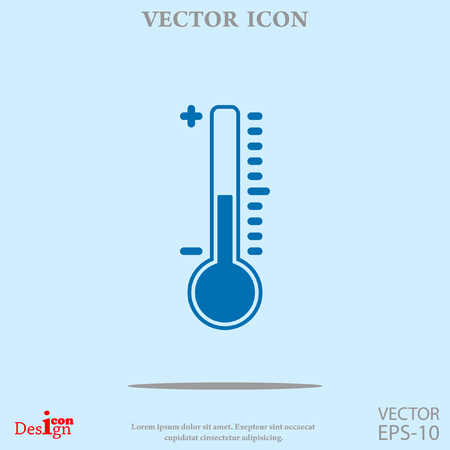high scale: thermometer vector icon