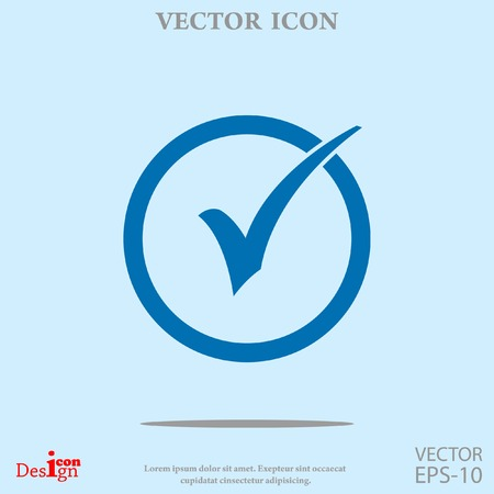 confirm: check box vector icon