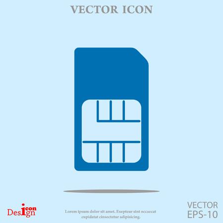 sim card vector icon