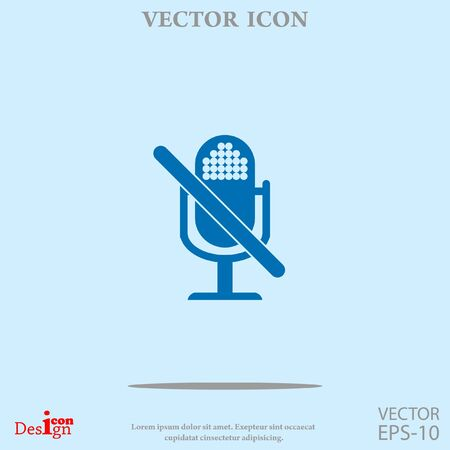 turn on: turn off microphone vector icon