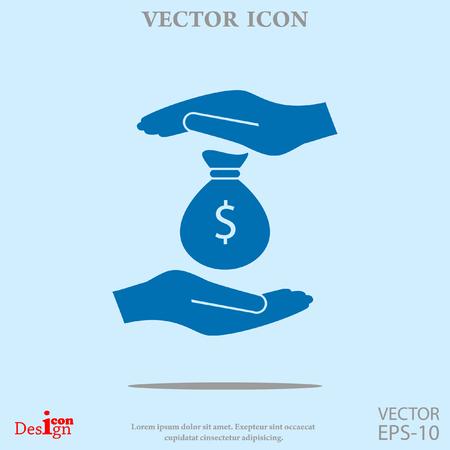 insurance money vector icon