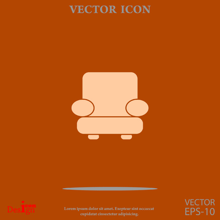 mid century: easy chair vector icon