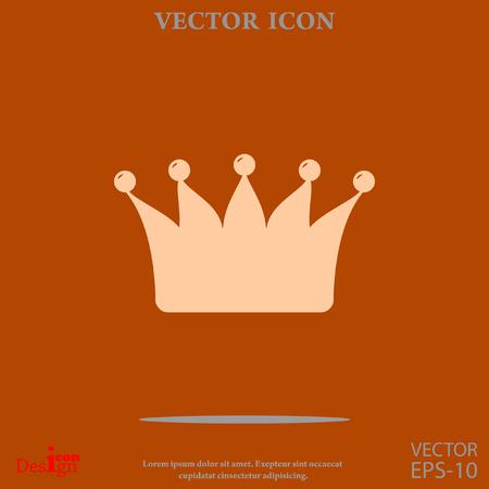 autoridad: corona del icono del vector