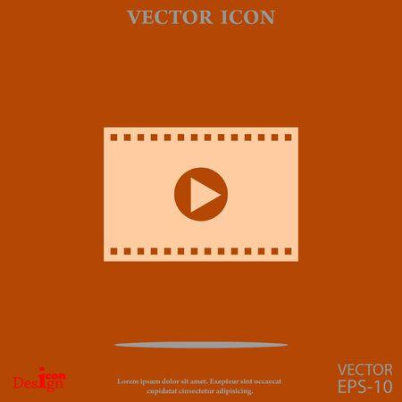 video vector icon Illustration
