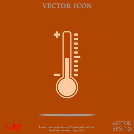 thermometer vector icon