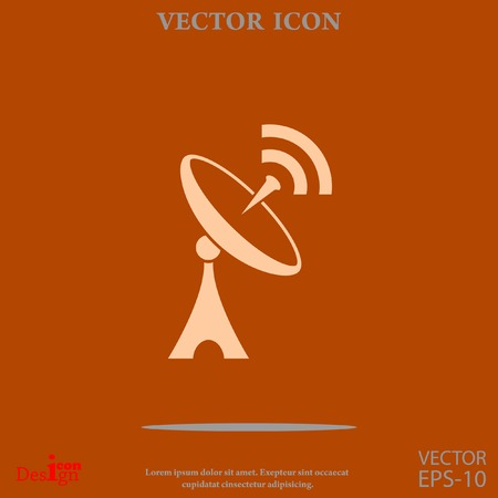 tv tower: antenna vector icon Illustration