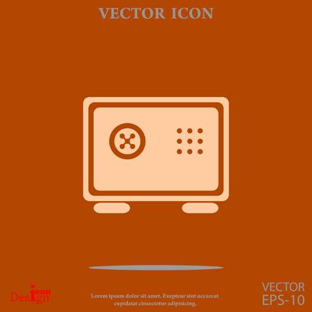 safe vector icon Illustration