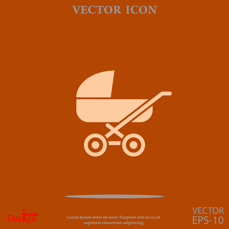 infantile: pram vector icon