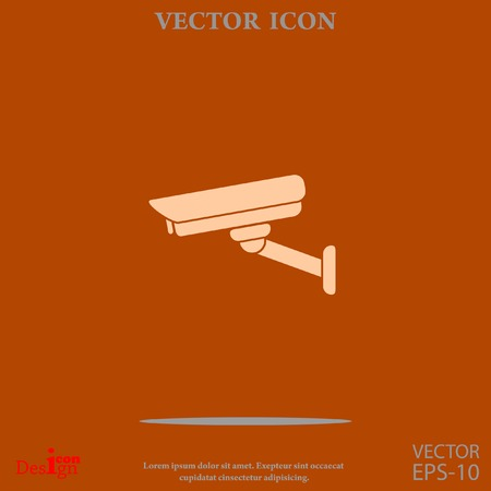 observation: surveillance camera vector icon