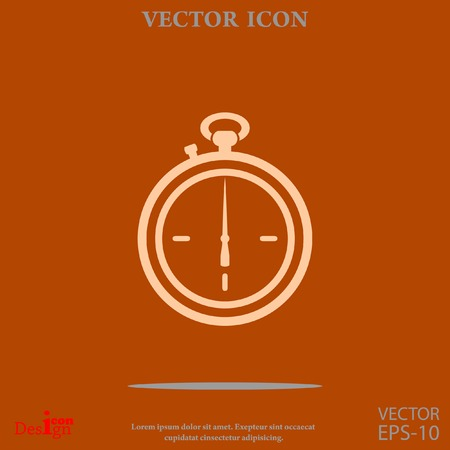 stopwatch vector icon Illustration