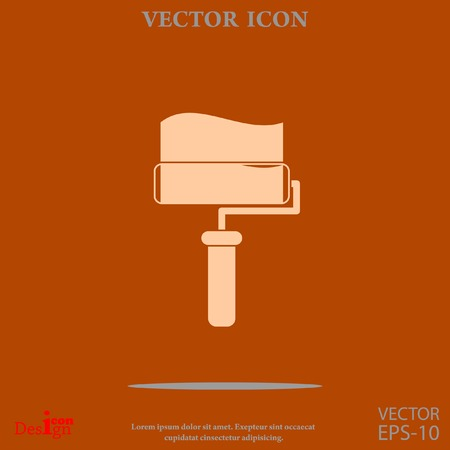 paint roller vector icon Illustration