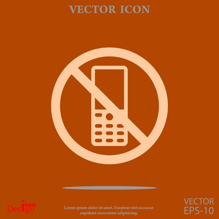 turn off phone vector icon Illustration