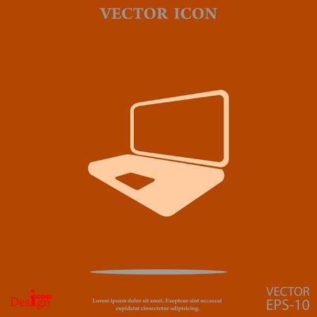 laptop vector icon Illustration