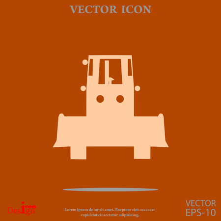 bulldozer vector icon Illustration