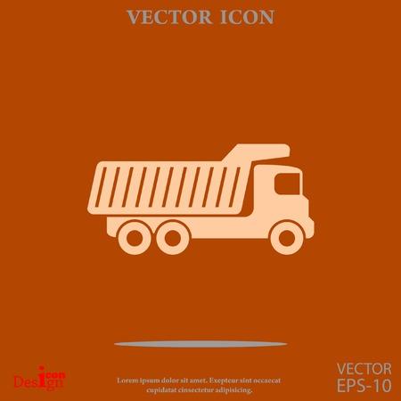 volteo: cami�n volquete del icono del vector