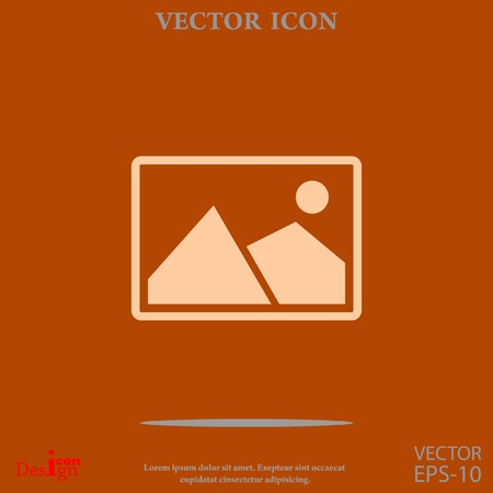 memory card: nature photo vector icon