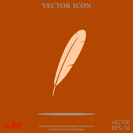 feather vector icon