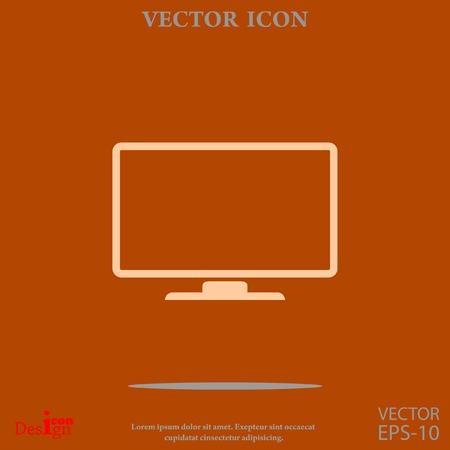 monitor vector icon Illustration