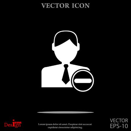 remove: remove contact vector icon Illustration