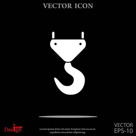 pulley: crane hook vector icon