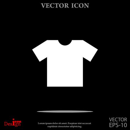 office wear: t-shirt vector icon Illustration