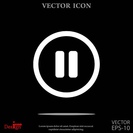 pause button: pause button vector icon Illustration