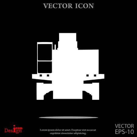 power shovel: excavator vector icon