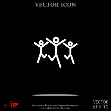 hands together: success team vector icon Illustration