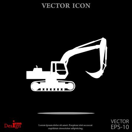 Icona del vettore escavatore Archivio Fotografico - 61050364